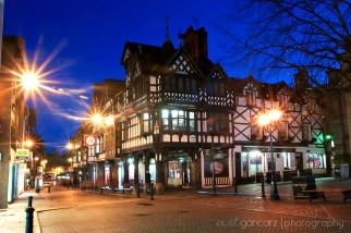 Northgate Street, Chester at night
