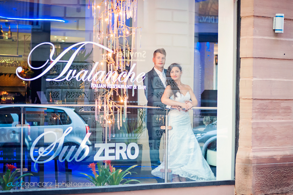 Wedding Photo Session Manchester, Avalanche Restaurant, Tom Gancarz