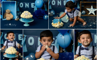 Cake Smash Manchester | Boy | Navy Blue