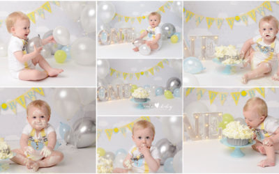 Cake Smash Manchester | Lawson | Yellow Silver
